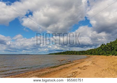 Summer Landscape With Clouds