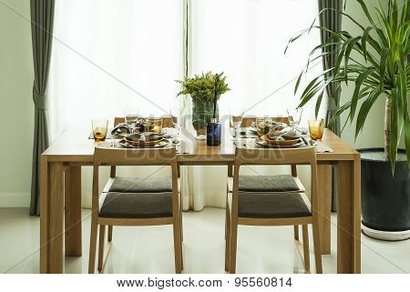 Dining Table with Elegant Setting