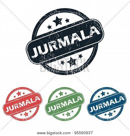 Round Jurmala city stamp set