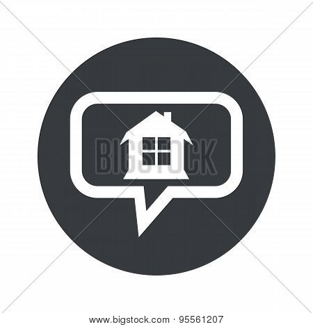 Round dialog house icon