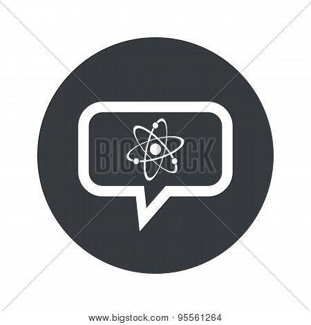 Round dialog atom icon