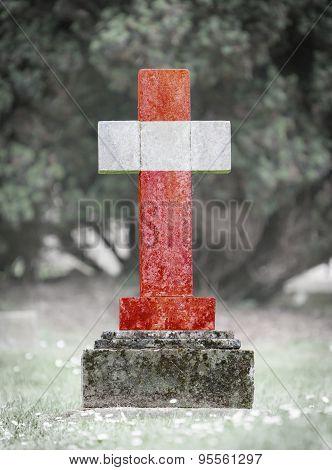 Gravestone In The Cemetery - Austria