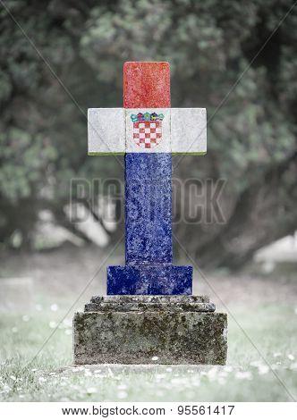 Gravestone In The Cemetery - Croatia