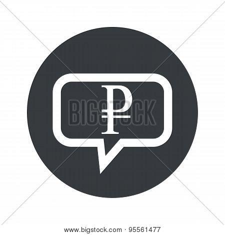 Round dialog ruble icon