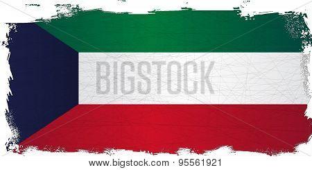 Flag Of Kuwait Grunge