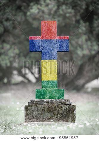 Gravestone In The Cemetery - Mauritius