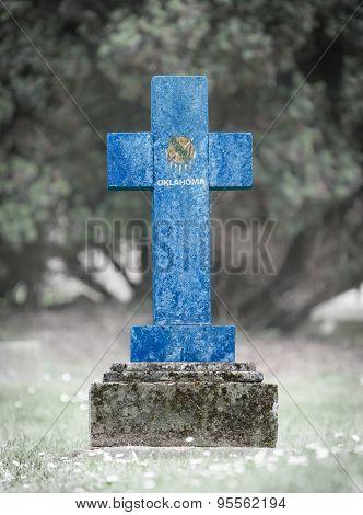 Gravestone In The Cemetery - Oklahoma