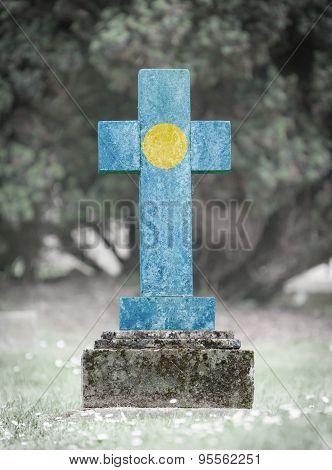 Gravestone In The Cemetery - Palau