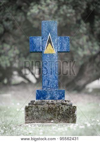 Gravestone In The Cemetery - Saint Lucia