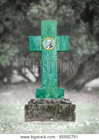 Gravestone In The Cemetery - Washington