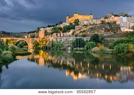 Toledo, Spain on the Tagus River.