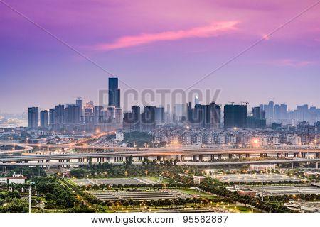 Fuzhou, Fujian, China downtown cityscape.