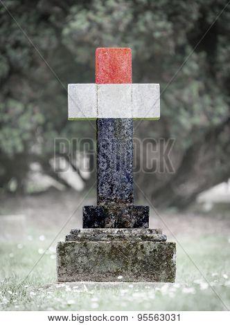 Gravestone In The Cemetery - Yemen