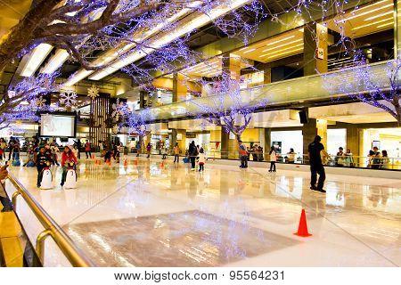 People playing ice skating
