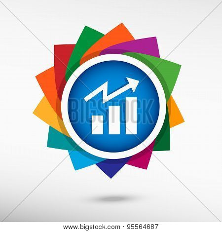 Business Graph Web Icon Design Element.