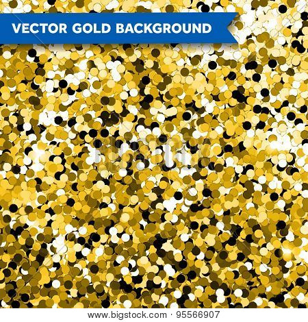 Vector Gold Glittering background