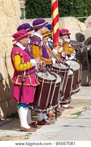 Drummers In Guarda parade