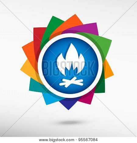 Bonfire icon. Flat design style