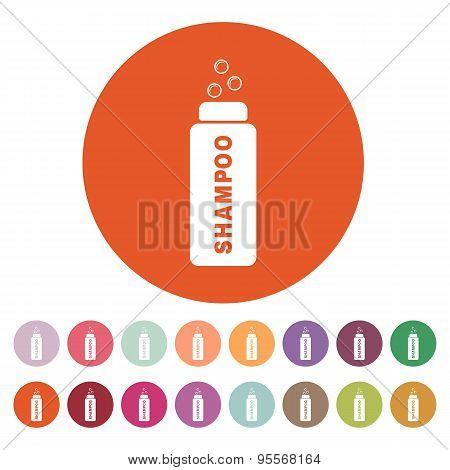 The Shampoo Icon. Washing Symbol. Flat