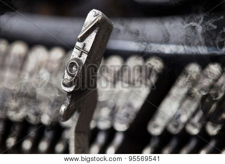 9 Hammer - Old Manual Typewriter - Mystery Smoke