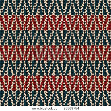Knitting Pattern Sweater Red Blue2