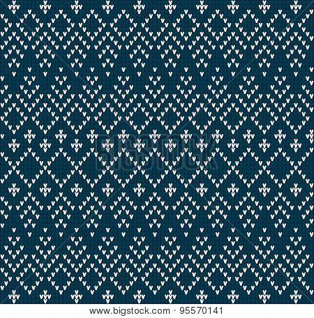 Knitting Pattern Sweater Blue Ornament