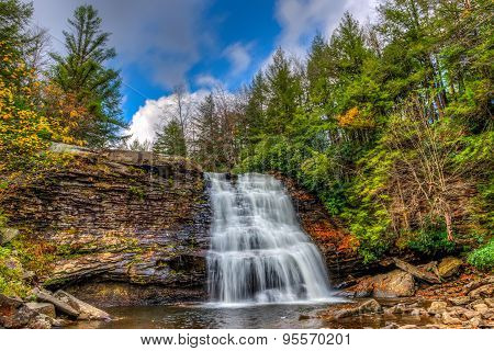 Appalachian Mountain Waterfall