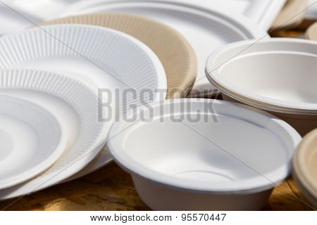 Paper Disposable Plates Of Different Colors