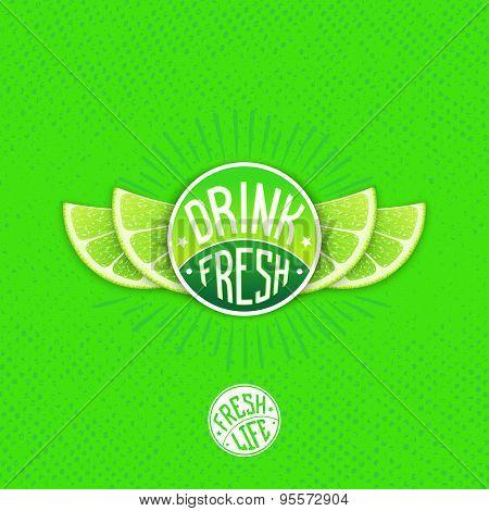 Drink Fresh Juice Label