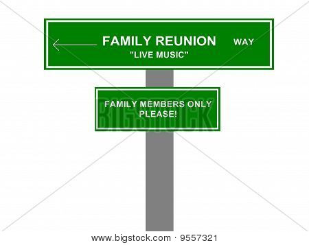 Family Reunion Road Sign