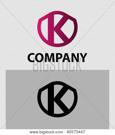 Abstract Letter K vector logo symbol