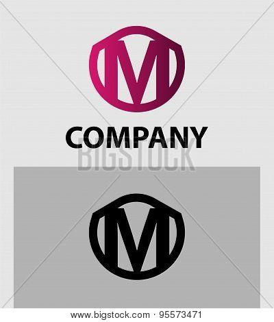 Letter M logo. Alphabet logotype vector design