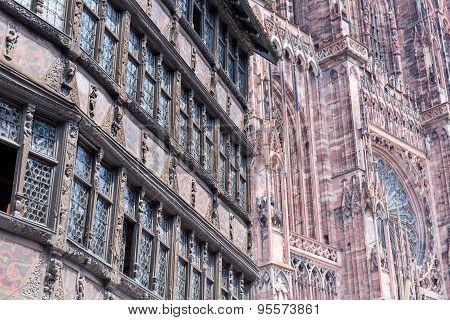 Cathedrale Notre-dame De Strasbourg, France