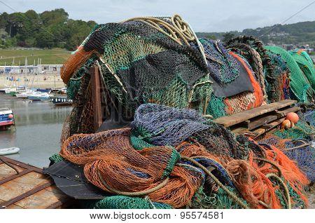 Ocean fishing nets.