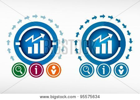 Business Graph Web Icon And Creative Design Elements.