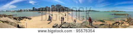 VITORIA, BRAZIL - CIRCA JULY 2015: Praia da Costa (Costa Beach) in Espirito Santo, Brazil