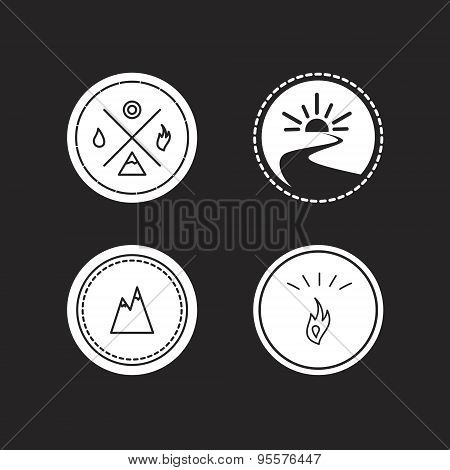 Vector Set Of Ecology Logotypes