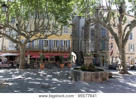 French Square In Avignon France