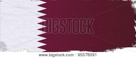 Flag Of Qatar Grunge