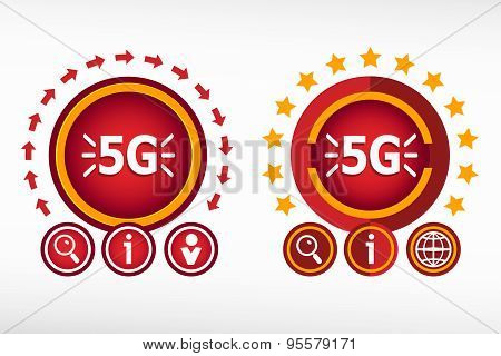 5G Sign Icon. Mobile Telecommunications