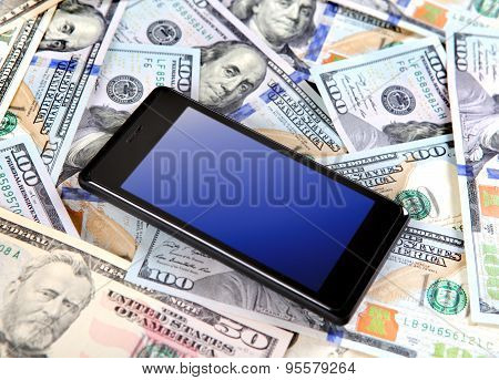Cellphone And Dollars