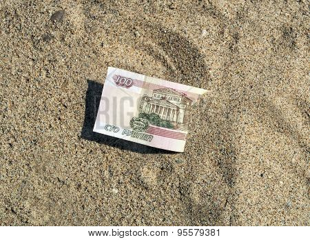 Rubles In The Sand