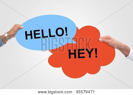 Hello Hey! Speech Bubbles meeting