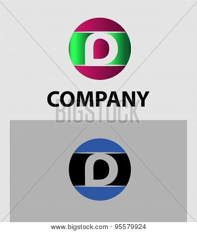 Set of letter D logo icons design template elements. Collection of vector signs