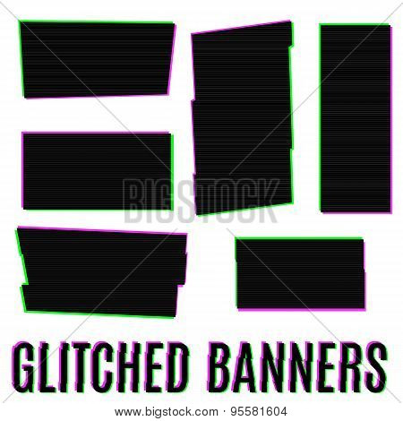 Glitched banners