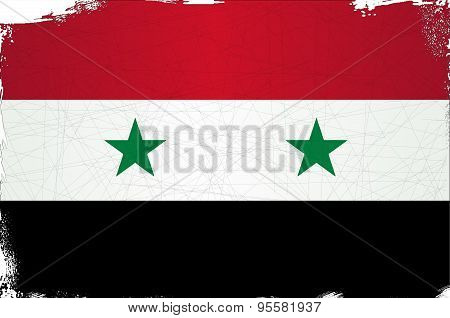 Flag Of Syria Grunge