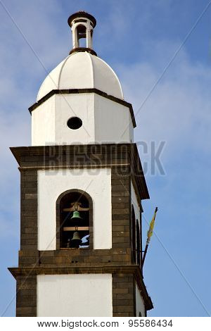 Teguise  Arrecife Lanzarote  Spain The Old Wall   Church Bell Tower