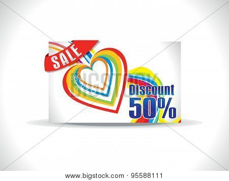 Artistic Colorful Love Discount Card