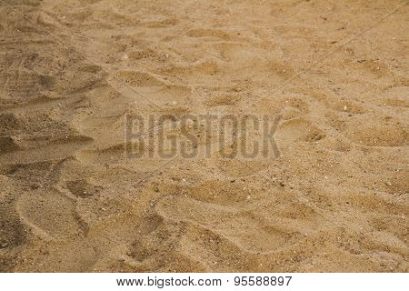 Sand With Footsteps