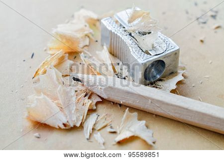 Pencil And Sharpener